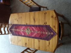 French braid table runner.