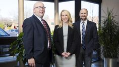 From left: Mark Cooper, Stephanie Todd and Dan McLaughlin of Delmar Financial.