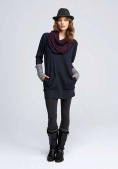 Consejos para combinar leggins y botas: fotos ejemplos - Leggins con vestido…