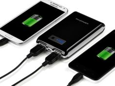 RAVPower Element 10400mAh External Battery Pack Portable Charger Power Bank (Dual USB Outputs, Ultra Compact Design), for iPhone 5S, 5C, 5, 4S, 4, iPad Air, 4, 3, 2, Mini 2 (Apple adapters not included); Samsung Galaxy S4, S3, S2, Note 3, Note 2; HTC One, EVO, Thunderbolt, Incredible, Droid DNA, Motorola ATRIX, Droid, Moto X, Google Glass, Nexus 4, Nexus 5, Nexus 7, Nexus 10, LG Optimus, PS Vita, GoPro and More