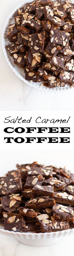 Salted Caramel Coffee Toffee | Sweet Anna's