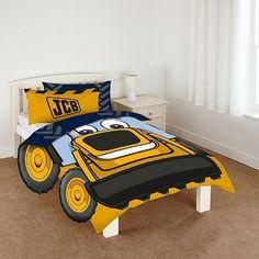 JCB Halo, Single digger Bedding for boys bedroom