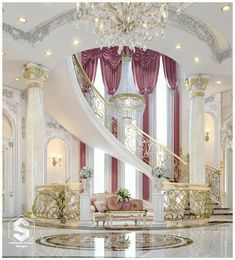 Enhance Your Senses With Luxury Home Decor Palace Interior, Mansion Interior, Luxury Homes Interior, Luxury Home Decor, Home Interior Design, Mansion Bedroom, Dream Home Design, House Design, Design Room