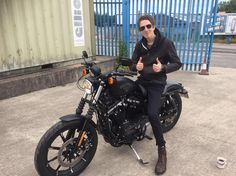 This is Joe who passed his DAS with us recently, and has come to show us his new ride a Harley :-)