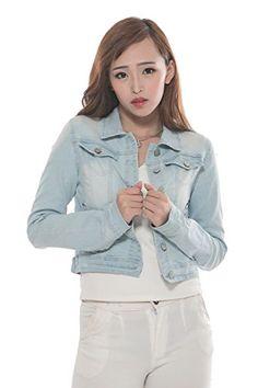 ca1d3fa0df5 Generic Women s Long Sleeves Denim Jacket (S) at Amazon Women s Coats Shop