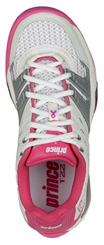 Prince T22 Womens Tennis Shoes (7.5, White/Pink) >>> Continue to the product at the image link.