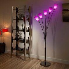 Modern Floor/Standard Lamp/Light/Lighting Purple Glass Shades Tulip; 249