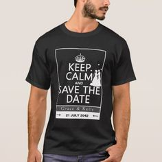 Keep Calm and Save The Date Lesbian Wedding T-Shirt