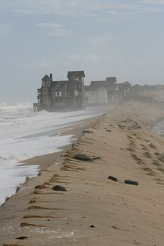 Rodanthe, North Carolina where the movie Nights in Rodanthe was filmed. The house has been moved to keep it from falling into the ocean.