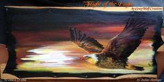 Peinture sur cuir Originale Flight of the par IndianHeritageArts