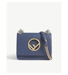 3bacf34d63c7 FENDI Kan I Small Leather Crossbody Bag
