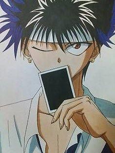 No photo description available. Manga Anime, Old Anime, Anime Demon, Anime Guys, Anime Art, Reiner Snk, Yu Yu Hakusho Hiei, Fox Boy, Yoshihiro Togashi