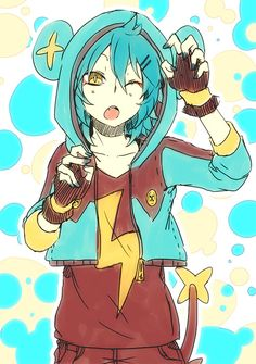 Tags: Anime, Shiuka (Shiupiku), GAME FREAK, Nintendo, Inazuma Eleven GO, Pokémon, Shinx