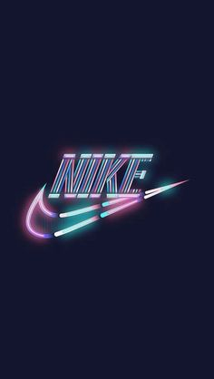 a glow NIKE MacBook Wallpaper