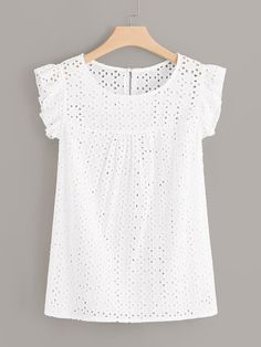 To find out about the Plus Eyelet Embroidery Blouse at SHEIN, part of our latest Plus Size Blouses ready to shop online today! Plus Size Blouses, Plus Size Dresses, Plus Size Outfits, Shirred Dress, Belted Dress, Big Girl Fashion, Curvy Fashion, Blouse Styles, Blouse Designs