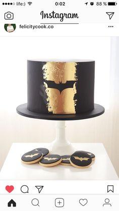 Best Birthday Cupcakes For Men Treats Ideas Batman Birthday Cakes, Batman Cakes, Cool Birthday Cakes, Birthday Cupcakes, Batman Grooms Cake, Men Birthday, Birthday Ideas, Cake Dog, Dog Cakes