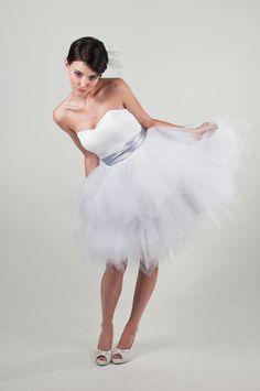 Elisa  Short Wedding Dress  Reception Dress by TheLittleWhiteDress, $448.00