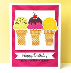 card ice cream cone MFT You're the sweetest Die-namics #mftstamps