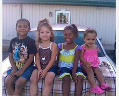 """""""My beautifully blended grand-babies...They are Puerto Rican, Black & White. I'm adopting my two oldest grand-babies very soon."""" -Stacy Bosco-Davey"""