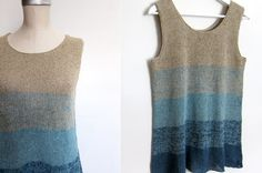 Ombre tank pattern. Slight a-line tank that is perfect for spring or summer depending on weight of yarn used.