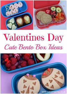 Valentines Bento Box Ideas Heart themed food - Cute and healthy Valentines bento lunch ideas for kids from Eats Amazing UK Cute Bento Boxes, Bento Box Lunch, Lunch Boxes, Valentines Day Food, Valentines For Kids, Dot Foods, Boite A Lunch, Cooking With Kids, Easy Cooking