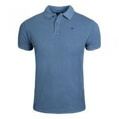 SCOTCH & SODA Garment-dyed Cotton Piqué Poloshirt Cornflower