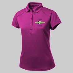 Embroidered Custom High School Soccer Ladies Polo   Custom with your name or school initials.