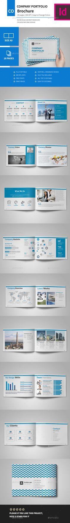 Company Portfolio Brochure 2016 Template InDesign INDD #design Download: http://graphicriver.net/item/company-portfolio-brochure-2016/14067842?ref=ksioks