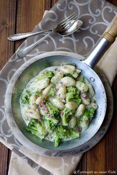Experimente aus meiner Küche: Gnocchi mit Brokkoli-Schinken-Sahnesoße