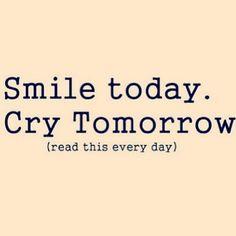 tomorrow never comes...