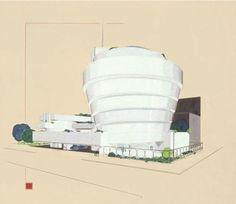 Guggenheim Museum - Frank Lloyd Wright- Drawing