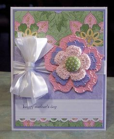 Mothers Day Card Stampin Up Teeny Tiny Wishes  by WhimsyArtCards, $6.00