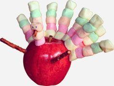 Apple Turkeys #kids #craft #recipe #fall #Thanksgiving