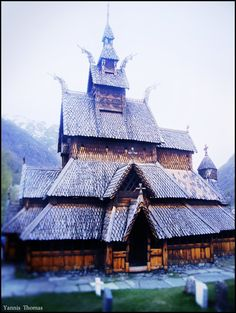 Viking church - Built during the XII century - Made entirely of wood. Western Norway.
