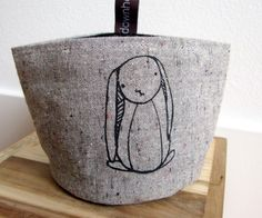 snack pouch small rabbit snack bag by downhomeamy on Etsy, $15.00