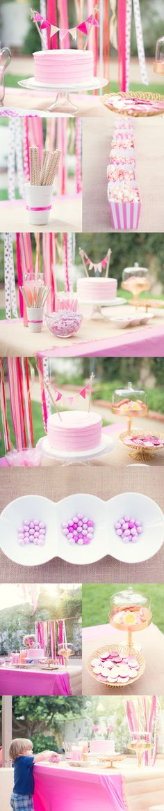 Pink and Gold Birthday Party | Orange County Natural Light Family Photographer