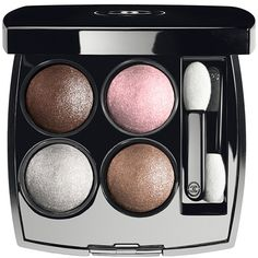 CHANEL Les 4 Ombres Eye Makeup No. 14 Mystic Eyes 4x0.3g ($91) ❤ liked on Polyvore featuring beauty products