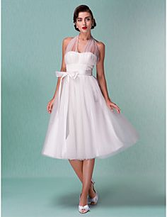 Lanting Bride® A-line / Princess Petite / Plus Sizes Wedding Dress - Chic