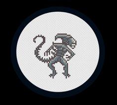 Alien cross stitch!