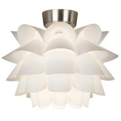 White Flower Ceiling Fan Light Kit