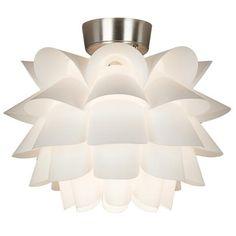 White Flower Ceiling Fan Light Kit -- for living room fan $80