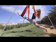 Discover the Yoga Trapeze - Yoga Inversion Swing - YouTube