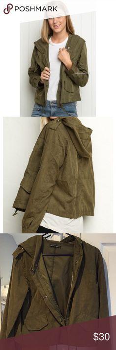 Brandy Melville army green jacket Lightweight army green jacket! Brandy Melville Jackets & Coats