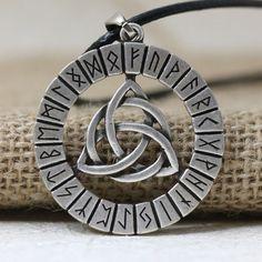 Nordic Vikings Rune Knot Talisman Amulet Necklace