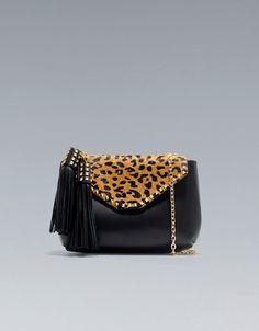 animal print purse with tassles