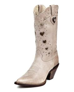 "Bridal boot...Durango Women's 11"" Crush Heartfelt Boots - Light Taupe"