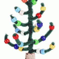Pipe Cleaner Craft - Christmas Tree