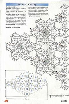 Robotki Reczne extra 3 2011 - kathrine zara - Álbuns da web do Picasa Crochet Squares, Crochet Snowflake Pattern, Crochet Circles, Crochet Doily Patterns, Crochet Snowflakes, Crochet Blocks, Crochet Diagram, Crochet Chart, Thread Crochet