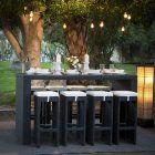 Belham Living Matica All-Weather Wicker Bar Height Patio Dining Set - Seats 8