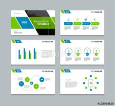 Vector business presentation template setpowerpoint template vector presentation slides background design templatefo graphs and charts elements toneelgroepblik Images